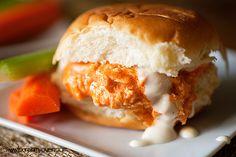 buffalo chicken pulled sandwiches recipe