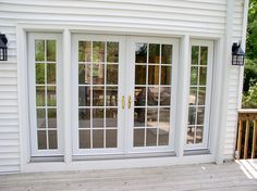 French Door With Sidelights Blinds.Pin By Melax Raxida On Patio Doors French Doors Patio . Door Sidelight Architect Series Single French Door With . Home Design Ideas Door Decks, House, Sliding French Doors, Interior Barn Doors, French Doors Exterior, New Homes, Doors Interior, Exterior Doors, External French Doors