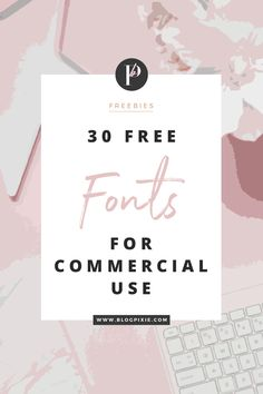 As I've realised how much you all love a good collection of free fonts, I thought I'd create a new one with lots of new free fonts for you to download. And guess what, they're all free for commercial use *, which means you can use them for logos, branding for clients, t-shirt, mug and stationary…