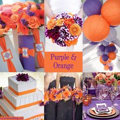 Festive Blue and Orange Wedding Ideas: Wedding color combos ...