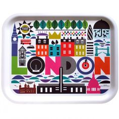 Maria Dahlgren London Tray - illustration - Scandinavian design