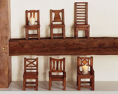 miniature chairs from Pottery Barn