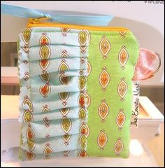 ruffled coin  pouch