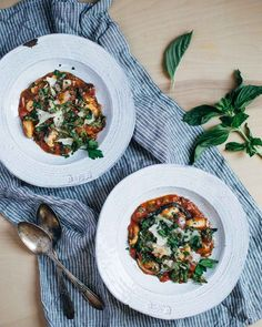tomato gnocchi stew with greens
