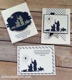 August - Christmas Card Class & FREE Kit Friday (Stampin' and Scrappin' With… Christmas Paper Crafts, Christmas Cards To Make, Xmas Cards, Holiday Cards, Christmas Nativity, Handmade Christmas, Chrismas Cards, Christmas Boxes, Cards Diy