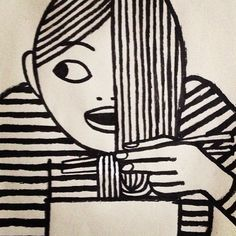 by jean_jullien Still loving the black and white bold, simple lines Art And Illustration, Illustrations Posters, Silkscreen, Ligne Claire, Art Graphique, Grafik Design, Art Lessons, Printmaking, Design Art
