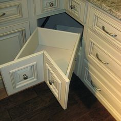 Better alternative to the typical lazy susan use of this sort of space.