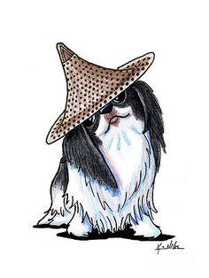 Japanese Chin by Kim Niles Animals And Pets, Cute Animals, Cute Dogs And Puppies, Doggies, Japanese Chin, Dog Books, Dog Crafts, Lhasa Apso, Dog Art