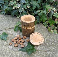 Younger Futhark Rune Vase by WytchenWood