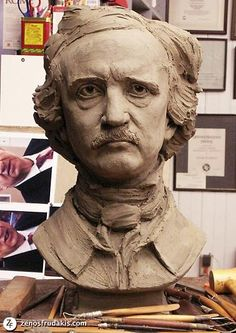 Edgar Allen Poe Portrait Sculpture provided by Frudakis Studio, Inc ...