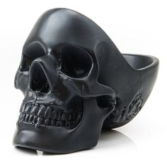 SUCK UK Skull Design Desk and Room Tidy, Black ($44) ❤ liked on Polyvore featuring home, home decor and office accessories