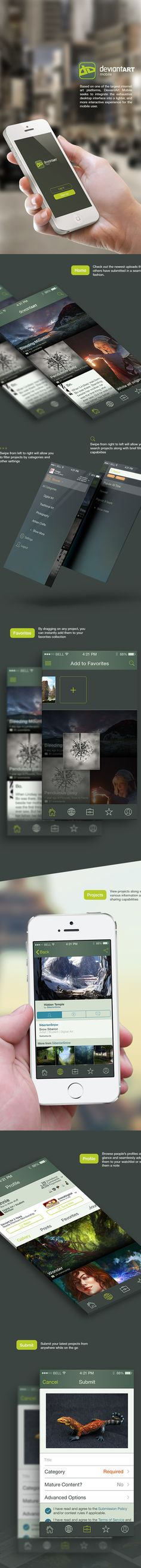 Mobile App Design Inspiration – DeviantArt Mobile