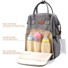 befff8d6f7d3 Babies Fashion Diaper Bag Backpack Waterproof Fabric Nappy Pack WideOpen School  Bags Large Capacity Stylish and