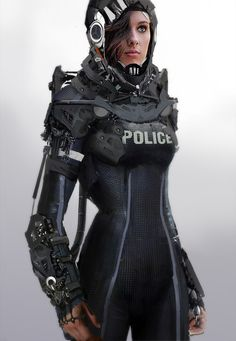 randomghost:  bassman5911:  Police Officer by zeon  In the...