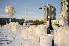Diner En Blanc Vancouver (White Party Of The Year) Recap Gala Themes, All White Party, Le Diner, White Gardens, Shades Of White, 30th Birthday, Party Planning, Wedding Inspiration, Table Decorations