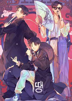 Some Bts fanart Fanart Kpop, Bts Anime, Art Tumblr, Anime Lindo, Kpop Drawings, Rap Lines, Levi X Eren, Bts Chibi, Bts Lockscreen