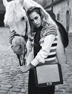 Alice Dellal by Karl Lagerfeld for Chanel Boy Handbags Summer 2013