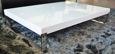 White laquered coffee table