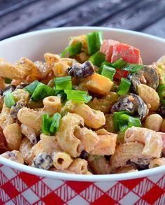 Seven Layer Dip Macaroni Salad