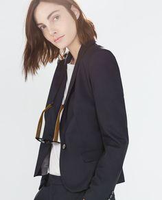 55db65ddf0c SINGLE BUTTON BLAZER Zara Damen, Dry Goods, Blazer Buttons, Zara United  States,