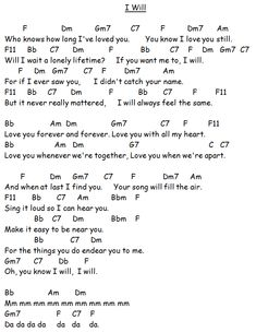 """I Will"" by the Beatles"