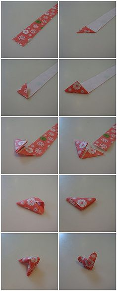 How to fold puffy paper hearts! Yay! Something new to do at church!