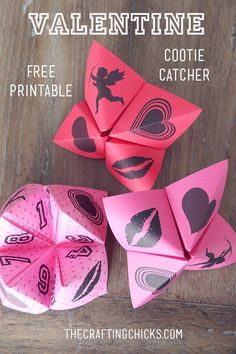 Valentine Cootie Catchers and Free Printable - Oh these would be so fun to make at my son's class party!