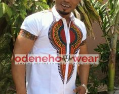 African Clothing / Odeneho Wear Men's White by Odenehowear on Etsy