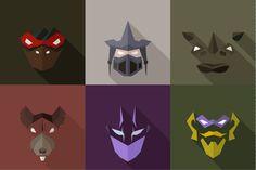 SuperHeroes Masks Flat (Set 12) @creativework247