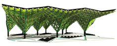 Urban Algae Canopy by ecoLogic Studio for Expo Milano 2015