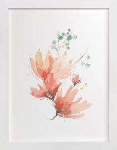 Blush Blossoms by Kelly Ventura at minted.com