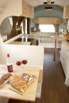 Gypsy Travel Interior Design Dress My Wagon| Serafini Amelia-RV Travel Trailer Design Inspiration-Inside 1966 Overlander Airstream