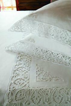 Постельное белье вышивка ришелье