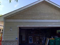 James Hardie siding project in progress.  The siding and shakes are primed and will be painted after installation.