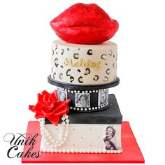 Hollywood glam 30th birthday cake