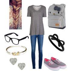 """""""School outfit"""" by jenna-bo-benna on Polyvore"""