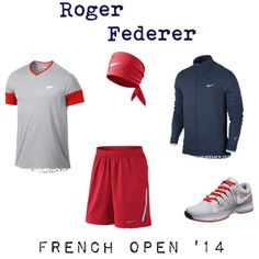 Roger #Federer French Open 2014 #tennis outfit. View more of Roger's gear using this link:  http://bit.ly/1dJhhXp
