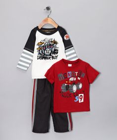 Take a look at this Nannette Red 'Drummer Boy' Tee Set - Infant by Z Boyz Wear by Nannette on #zulily today!