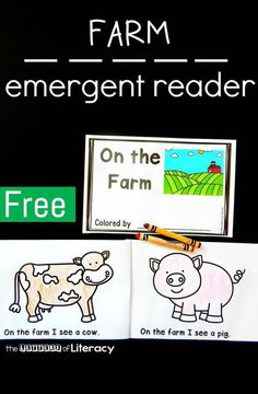 Free emergent readers for a farm unit! Perfect for a special education classroom and practicing those early writing and fine motor skills.