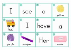 Sentence Scramble with Cut and Paste Worksheets - Back to School colors Theme (12 sentences) The cards can be used in a pocket chart center and students can complete the cut and paste worksheet as a follow up activity.