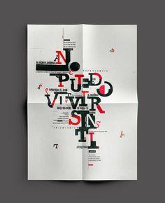 Desplegable tipográfico / SATÉLITE on Behance
