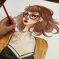 I bought a giant watercolor pad a while back and I love it #illustration…