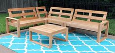 DIY Outdoor Sectional for Under $100