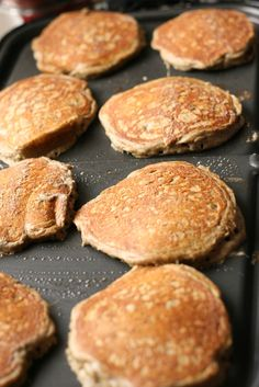 Buckwheat Pancake Mix - This stuff is bomb! I think the buckwheat flour i got is darker than what is used in the recipe, but i really enjoyed it. I used stevia powder instead of sugar and i added a few dark chocolate chips to eat pancake. I made a whole batch then frozen them and i pull them out of the freezer and pop them in the toaster and spread peanut butter on them. It's awesomely delicious!