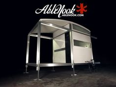 AbleNook – The Quickest-Assembling Portable Accommodation. The structure of AbleNook is entirely made of high quality extruded aluminum panels with electrical conduits, so the easy access to power is secured once the elements are put together. A stylish portable house that can be assembled by no more than two unskilled persons for under two hours. #architecture #new #modern #design