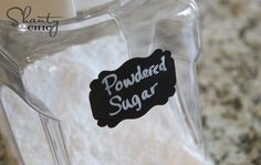 How to make chalkboard labels. Think: Mason Jar drink favors, labeling Candy buffets, table cards....The possibilities are endless!!!