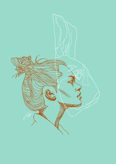 #illustration #girl #bunny
