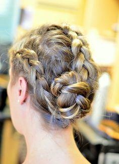 A Triple Dutch braid hair tutorial on VelvetandVino.com #hairstyle #hairstyletrends #beauty #braids #top2014hairstyle