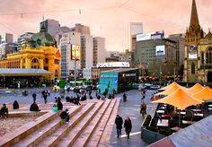 'Fed & Flinders'. Federation Square, Melbourne. © G.C. Campbell.