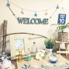 kuu0404さんの、玄関/入り口,観葉植物,玄関,100均,DIY,貝殻,夏,セリア,シェル,海,流木,西海岸,流木リメイク,のお部屋写真